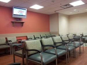 the purple waiting room at the mission er